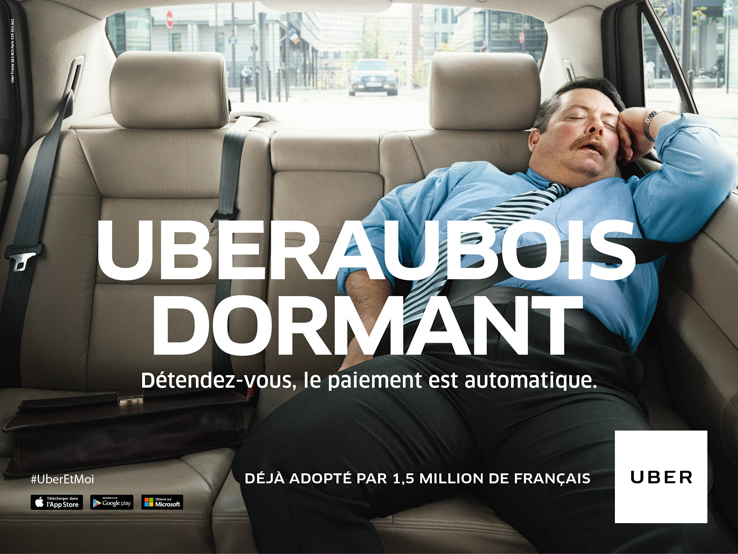 Uber - campagne de communication - blog LUCIOLE