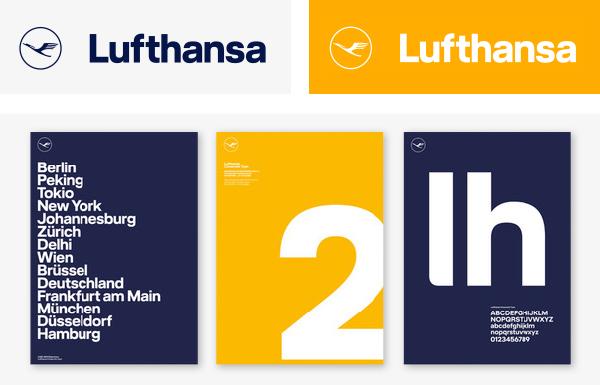 Lufthansa - design de marque - blog LUCIOLE