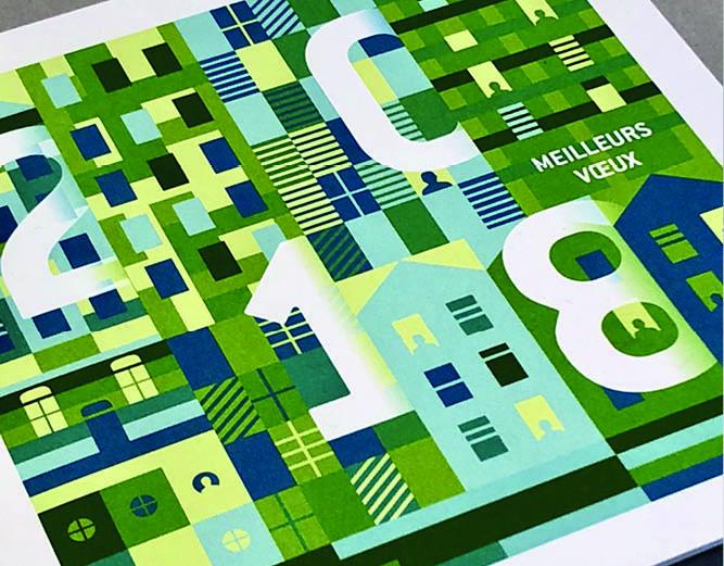 Bondy habitat - Vœux 2018 carte imprimée - LUCIOLE