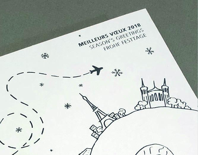 HDI Global - Vœux 2018 carte imprimée - vidéo d'animation - LUCIOLE