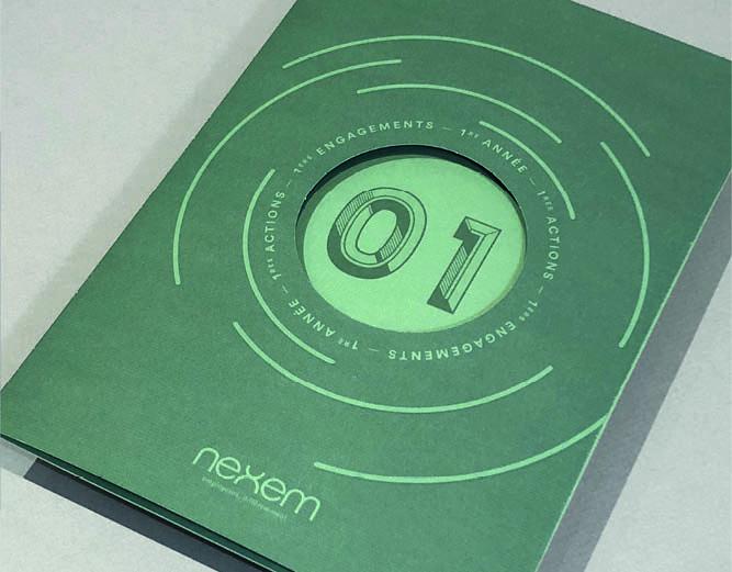 NEXEM - Vœux 2018 carte imprimée - vidéo d'animation - LUCIOLE