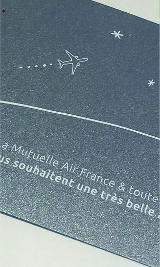 Mutuelle Air France - Vœux 2018 carte imprimée - LUCIOLE
